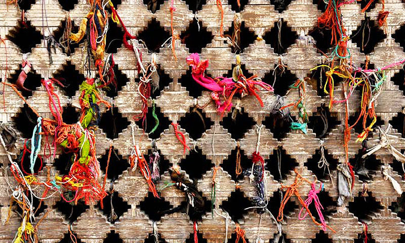 Prayers tied up in threads, Uch Sharif. -Photo by Madeeha Syed