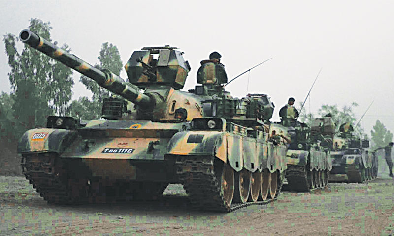 MIRAMSHAH: Mechanised columns of the armed forces on the move for ground operation here on Monday.