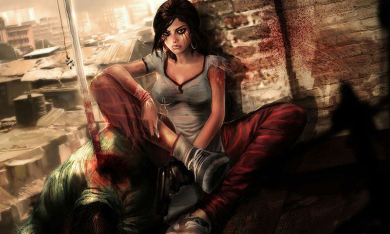 The main character Nasreen from the graphic novel,