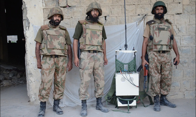 Communication equipment recovered  — Photo by Mateen Haider