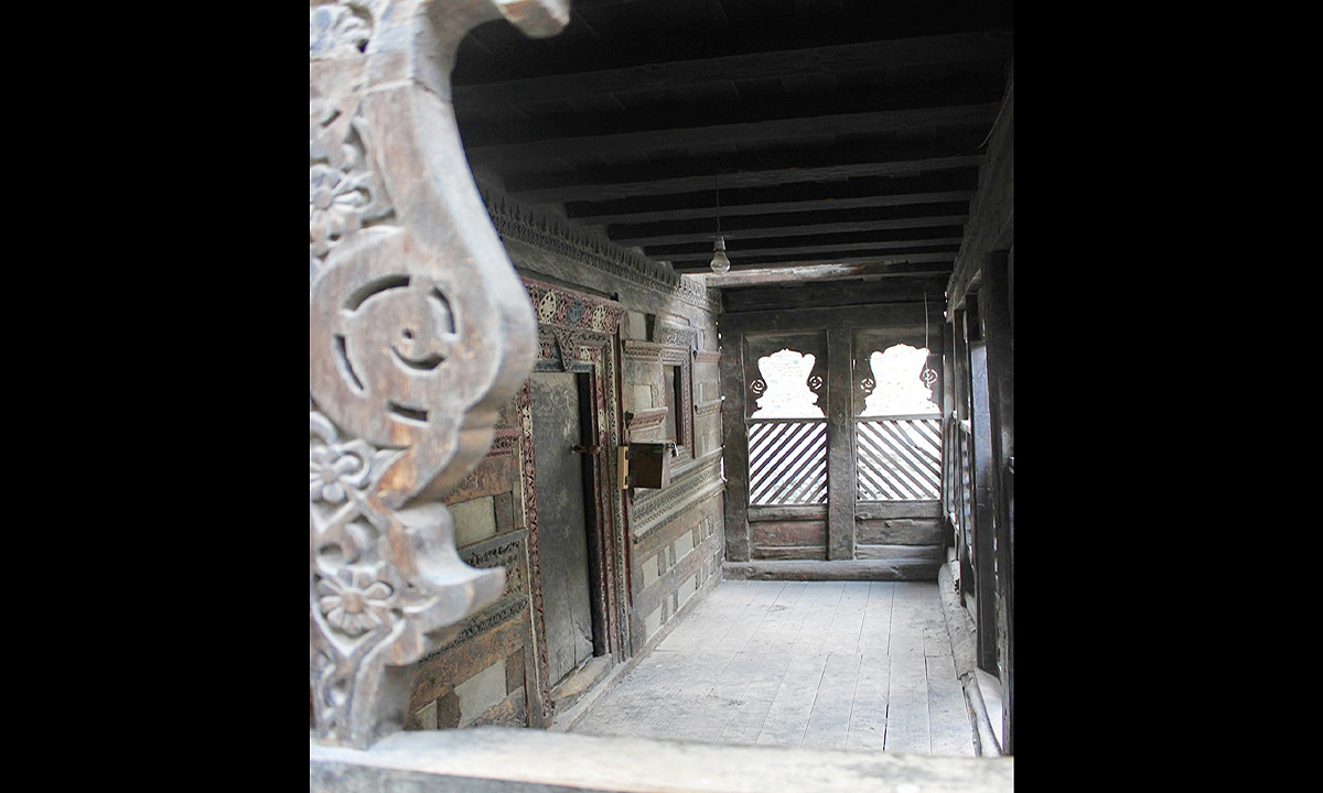 """Wooden carvings over doorways and beams with religious symbols explain the """"pluralistic legacy of Shigar"""" says Niilofer Farrukh, an art historian. —Photo by Kulsum Ebrahim"""