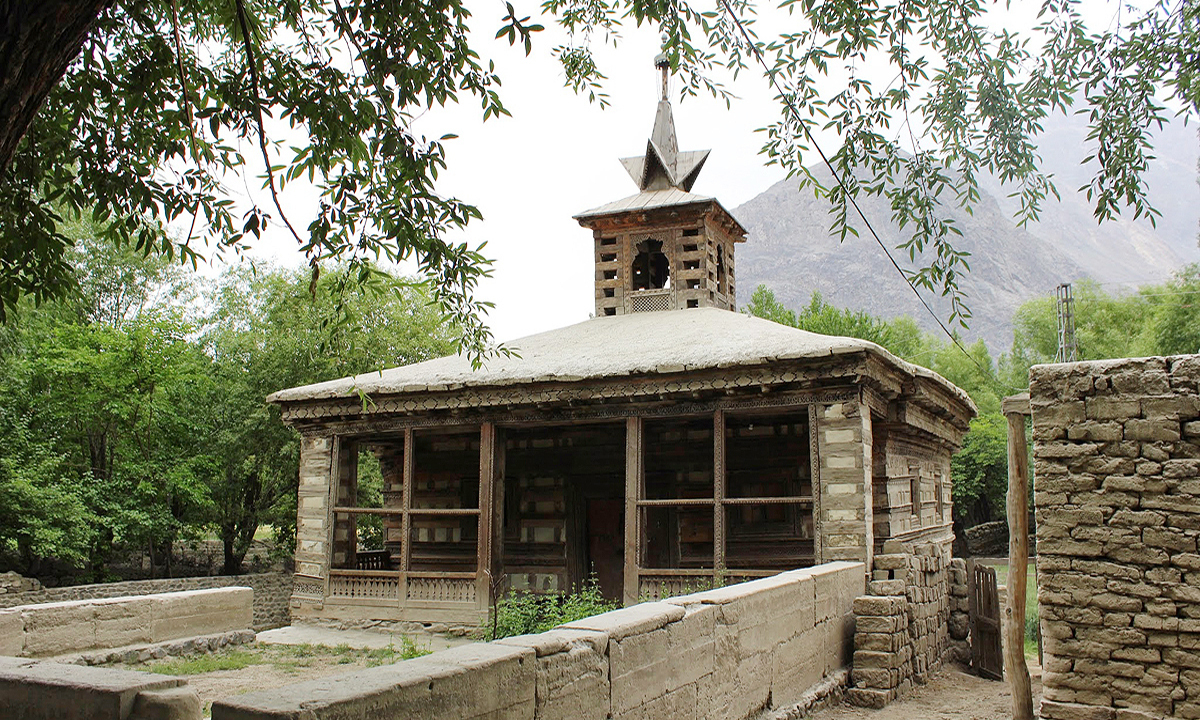 This vernacular architecture dates back to over a 1,000 years and was renovated when Shigar Fort was being conserved. —Photo by Zofeen Ebrahim