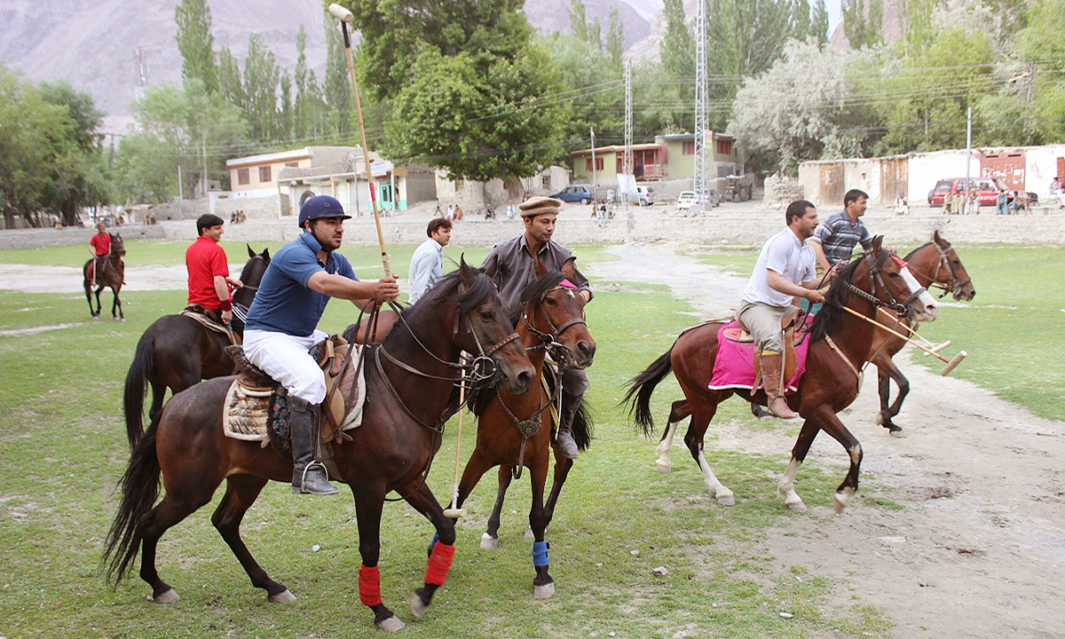 Polo is the national game of Baltistan. Tournaments take place from April to early May and from October to November. On any given Tuesday, you will find teams holding informal matches. — Photo by Zofeen Ebrahim