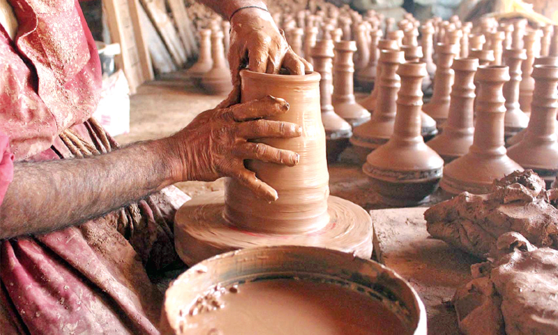 The traditional art of clay pottery, one of the subcontinent's most time-honoured traditions, is fast fading.