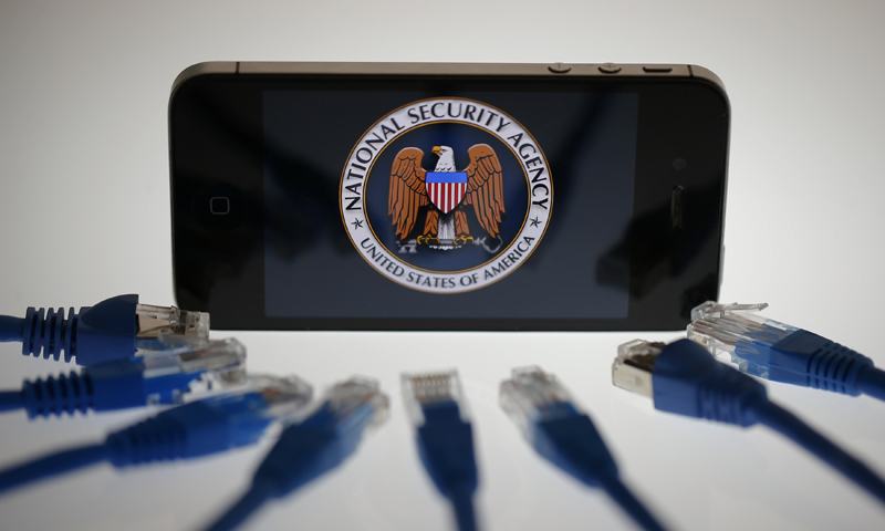 An illustration picture shows the logo of the U.S. National Security Agency on the display of an iPhone — File photo by Reuters