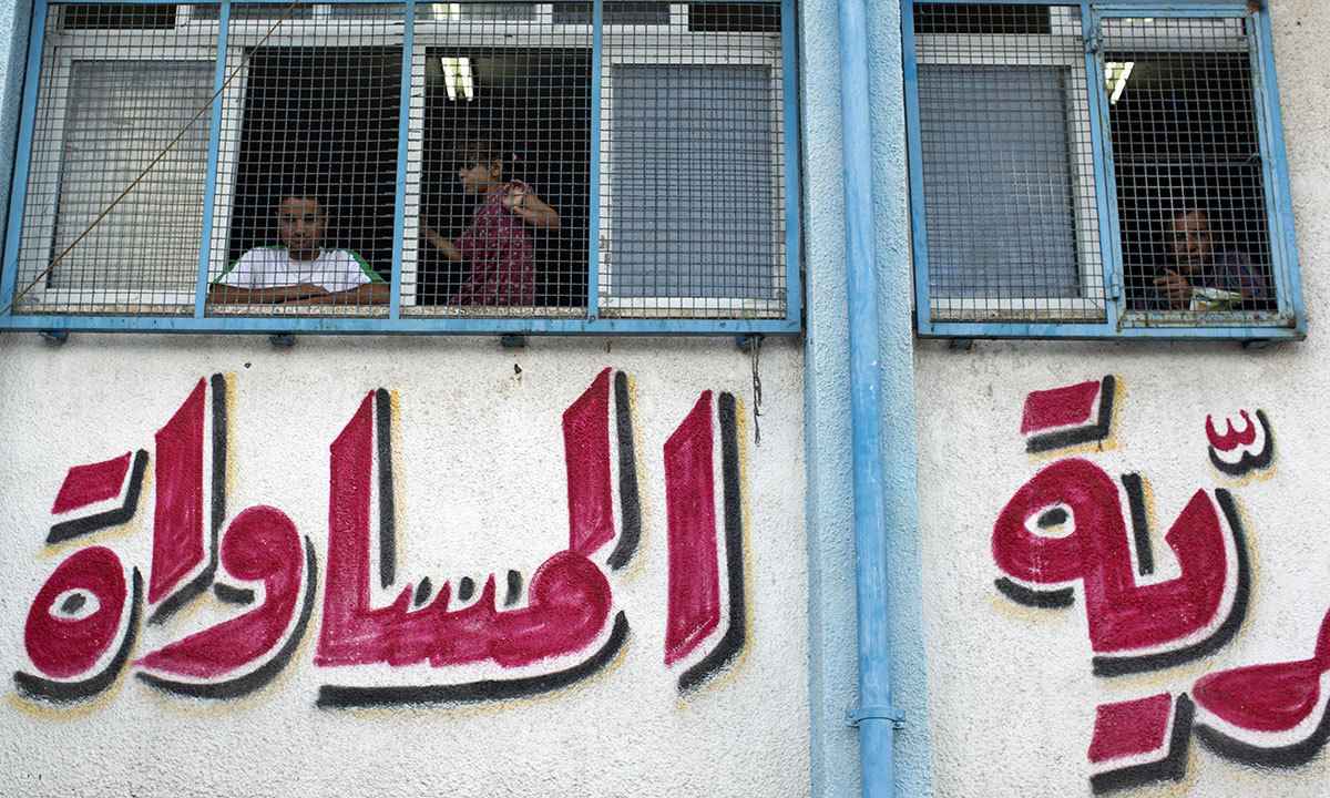"""An editorial pubslished in Dawn read, """"While the murders of the Israeli teens and the Palestinian youth are equally condemnable, Tel Aviv's brutal yet predictable response of pounding Gaza is totally unacceptable"""" — Photo by AFP"""