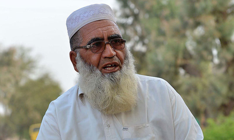 Haji Gulzar Khan Wazir, who fled with his family following a military operation against militants in the North Waziristan tribal agency, speaks during an interview with AFP in Bannu. — Photo by AFP