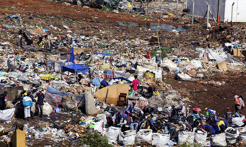 No effort was made to dispose of the garbage during the past decade. — File photo