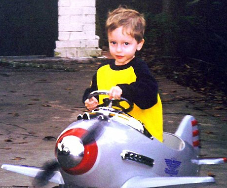 A rogue Palestinian child prepares his fighter jet to take part in airstrikes against innocent Israeli soldiers.
