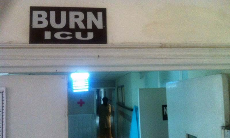 A view of the Burns ICU at the Bolan Medical Cpmplex.— Photo by Syed Ali Shah
