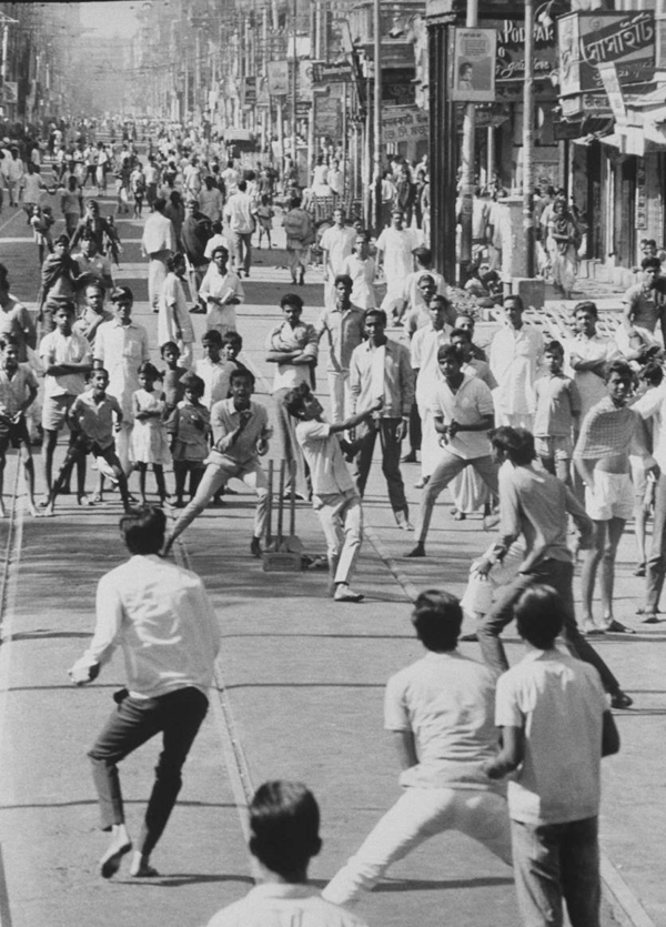 A Photograph That Appeared In The 1970 Edition Of Americas Life Magazine Of Kids Playing Cricket