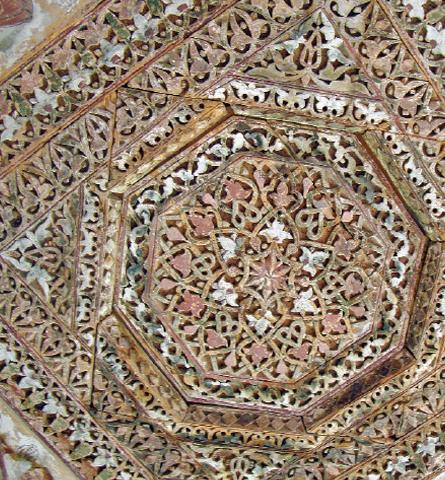 The Chaqchan Khanqah ceiling.