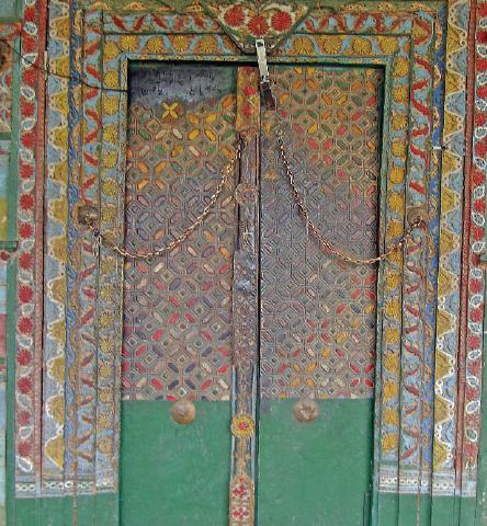 Door of the Chaqchan Khanqah.