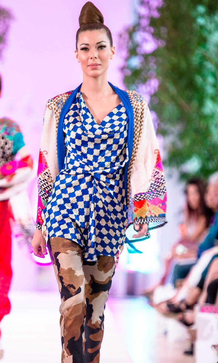 Faiza Samee's ethnic festive look with a chic boho twist at Fashion Parade, London