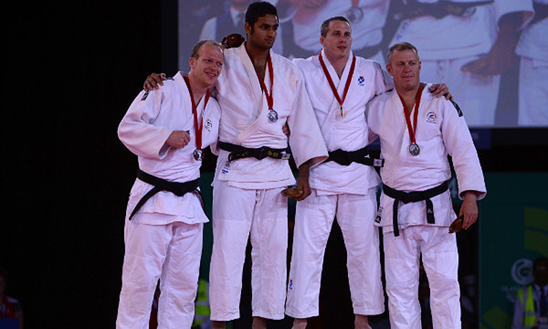Shah Hussain Shah (second from left). -Photo courtesy International Judo Federation