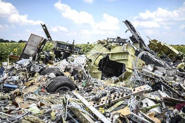 MH17 crash site in Ukraine — Photo by AFP