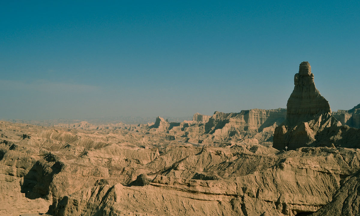 A view of the Hingol landscape and surrounding areas from the Buzi pass. — Photo by Baber Kaleem Khan