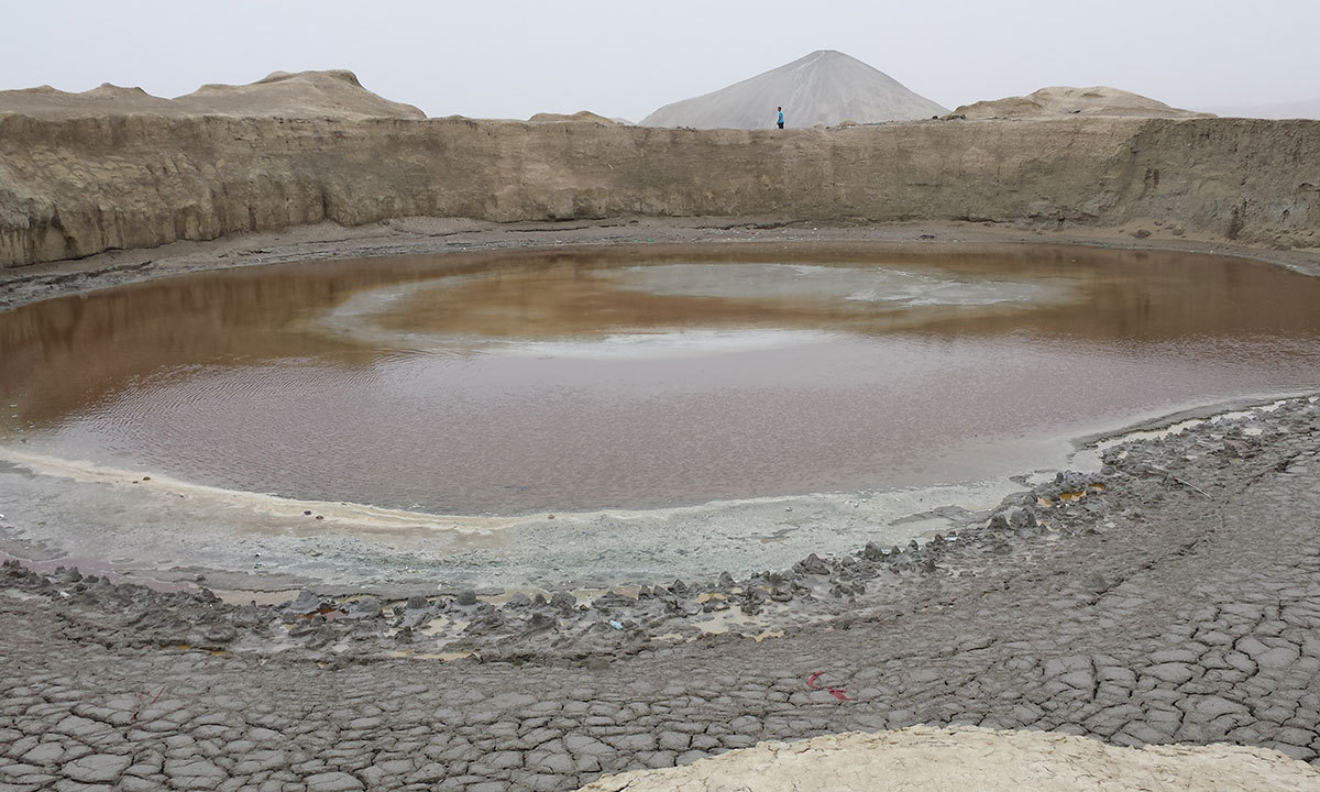 The Hingol mud volcano is regarded sacred by members of the Hindu community and is moreover an important stop for pilgrims while undertaking a journey to Devi's shrine. — Photo by Ali Umair Jaffery