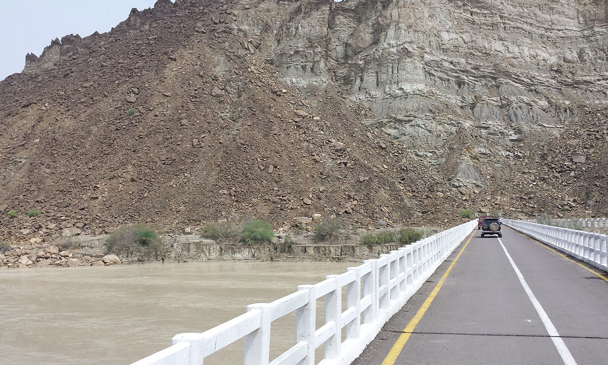 Crossing the Hingol bridge on our way to Hingol National Park in Hingol Valley. — Photo by Ali Umair Jaffery