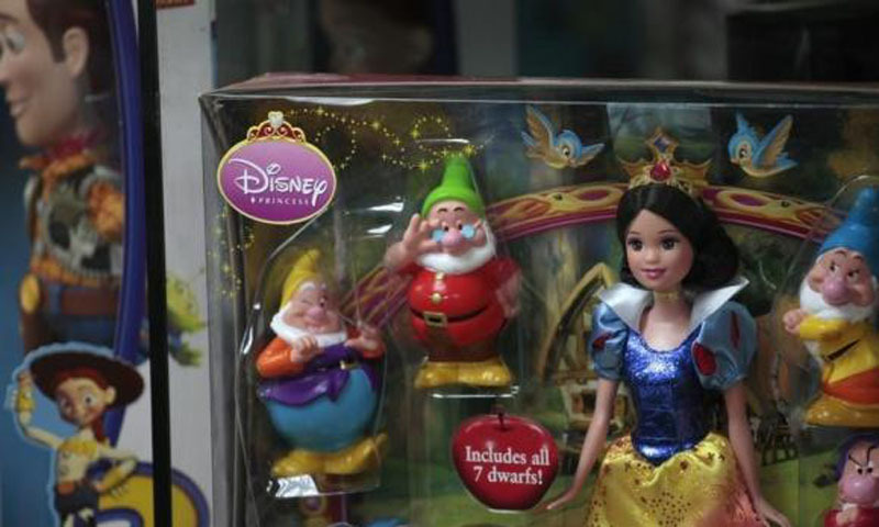 Disney toys are displayed inside a showroom in Hong Kong. – Photo by Reuters