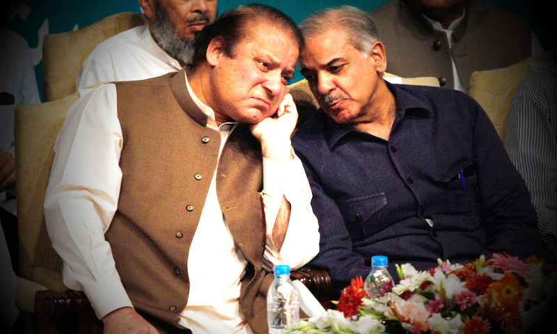 PML-N chief Nawaz Sharif and brother Shahbaz Sharif. — Photo by Reuters