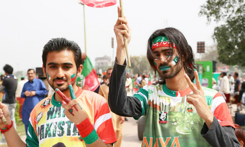 PTI supporters gear up for protests - Photo courtesy PTI Media Wing