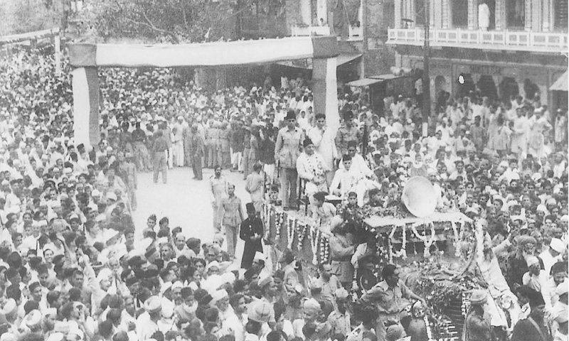 Quaid-e-Azam arrives in Allahabad to address the 1942  All India Muslim League session.
