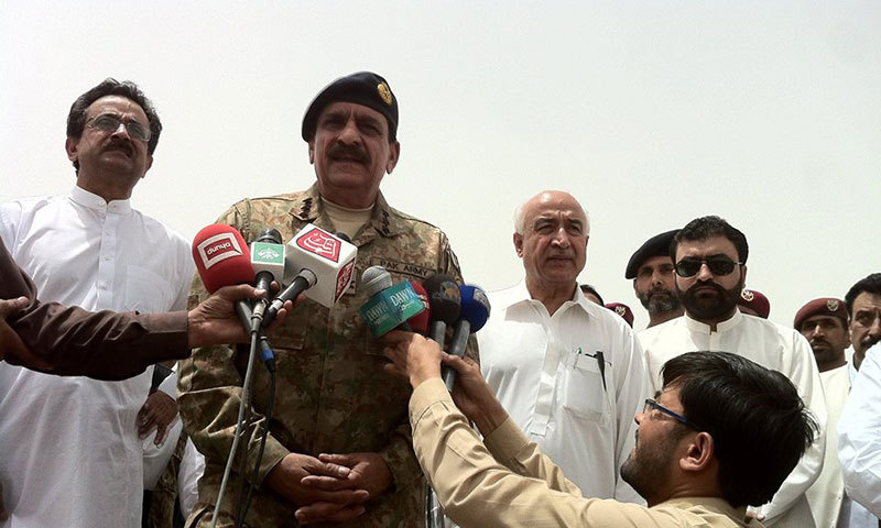 Nasir Khan Janjua talking to media. — Photo by author