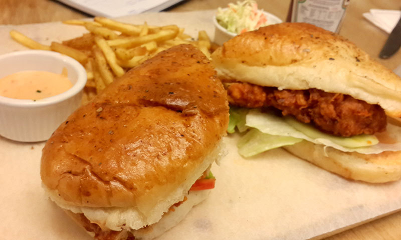 Chicken Buffalo Grandwich – Photo by author.