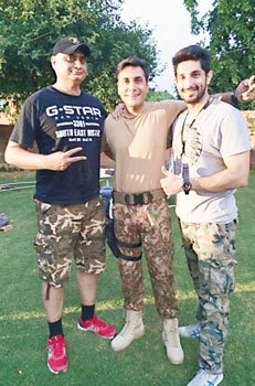 Left to right: Hasan Waqas Rana, Adnan Siddiqui and Bilal Ashraf. – Publicity photo