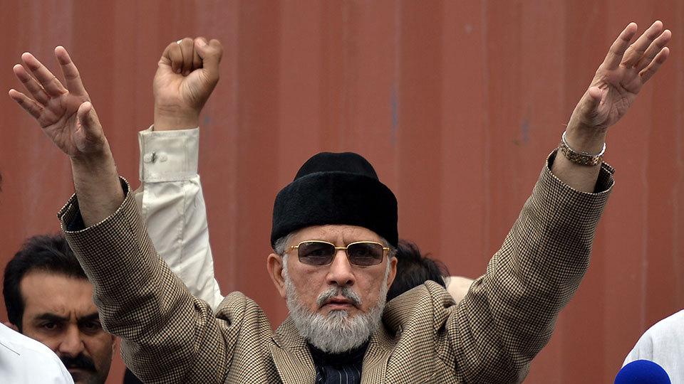 Pakistan Awami Tehrik chief Tahirul Qadri. — AFP