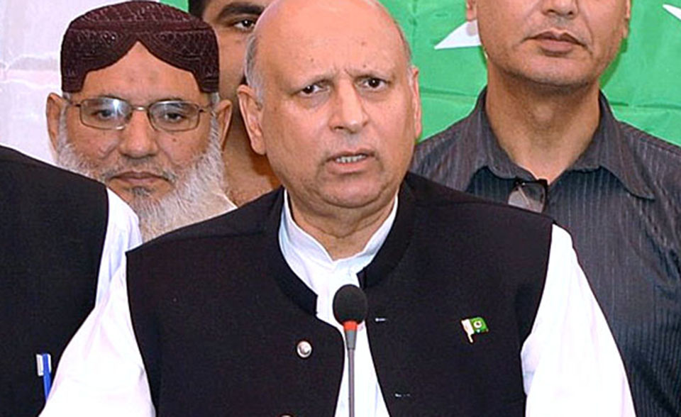 Punjab Governor Chaudhry Muhammad Sarwar  — File photo by APP