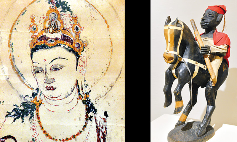 TWO of the artefacts on display at the Koel art gallery on Tuesday.—White Star