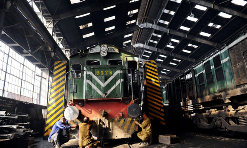 The operation of cargo express was thrice suspended as railways authorities asked the contractors to increase payments and invited fresh tenders. — Photo by AFP