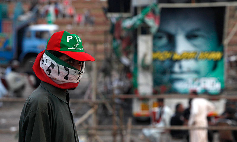 A supporter of PTI in Islamabad. — Photo by Reuters