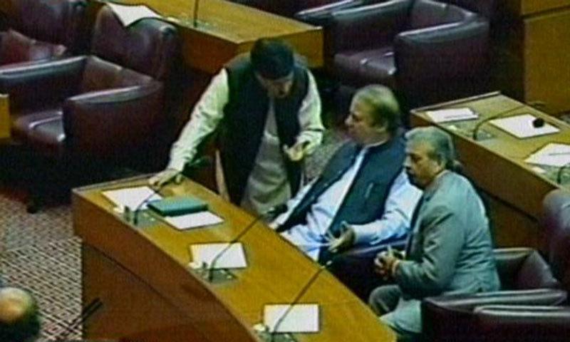 Prime Minister Nawaz Sharif in NA. — screengrab