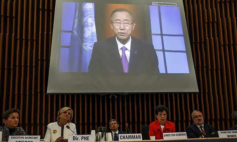 """""""The secretary-general calls on both sides to resolve the issues peacefully and through dialogue,"""" a statement given to Press Trust of India from the office of Mr Ban's spokesperson in response to questions about the cancellation of the talks and ceasefire violations said.  — Photo by AP"""