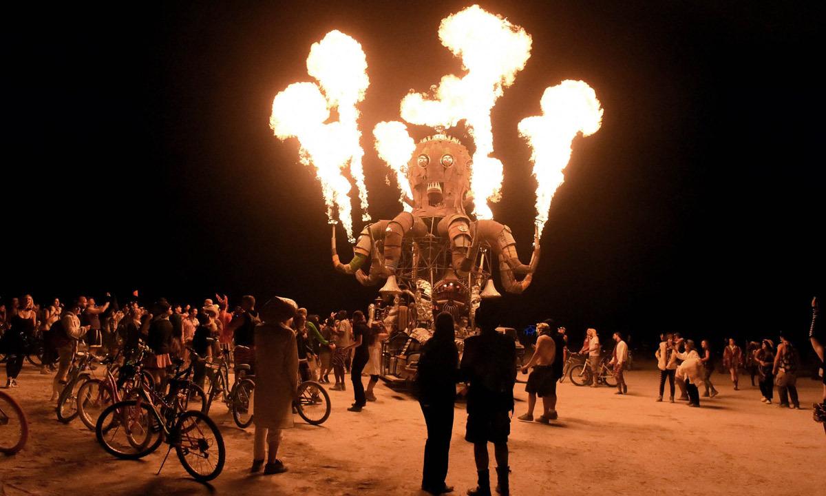 Burning Man lights up Nevada desert as 60,0000 festival