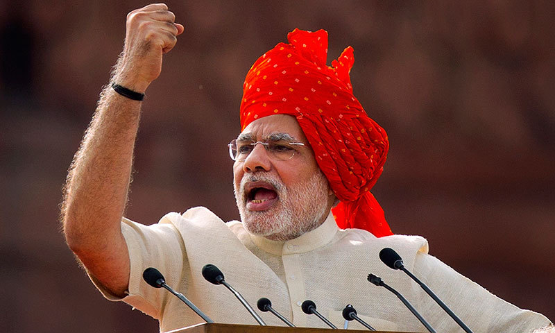 In this Friday, Aug 15, 2014 file photo, Indian Prime Minister Narendra Modi addresses the nation on the country's Independence Day in New Delhi. – AP Photo