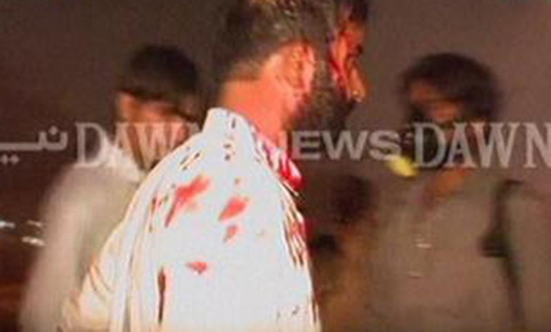 Screengrab of injured protester