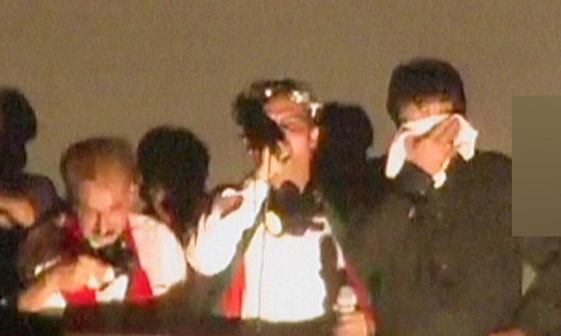 Imran Khan atop the container - Screengrab