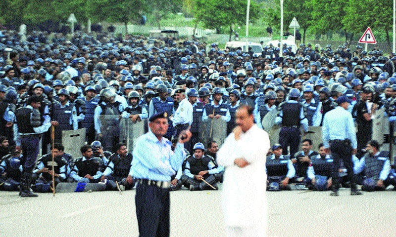 Islamabad protests: All nightmare smashes shed.