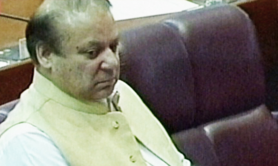 Nawaz Sharif inside Parliament today