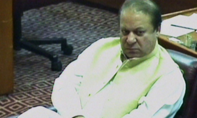 Nawaz listens to Sherpao speak