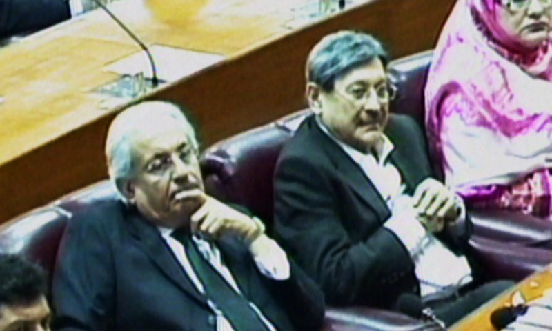 Members of Parliament listen intently to Qureshi