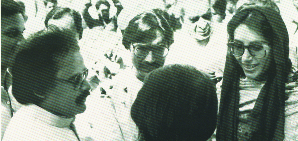 A young Altaf stands with former prime minister Benazir Bhutto and former President Asif Ali Zardari.  Photo courtesy: Pictoral Biography of Altaf Hussain