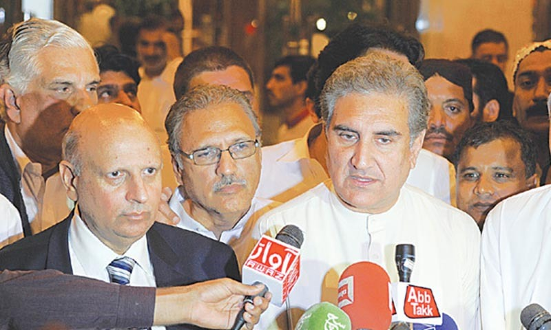 The two sides have only agreed broadly to electoral reforms and establishing a judicial commission.— File photo by Tanveer Shahzad