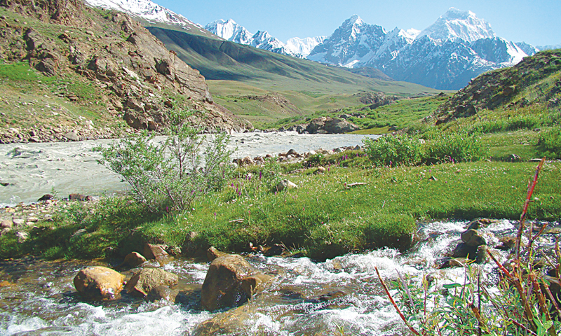 Ice-cold water stream — a common sight in the valley