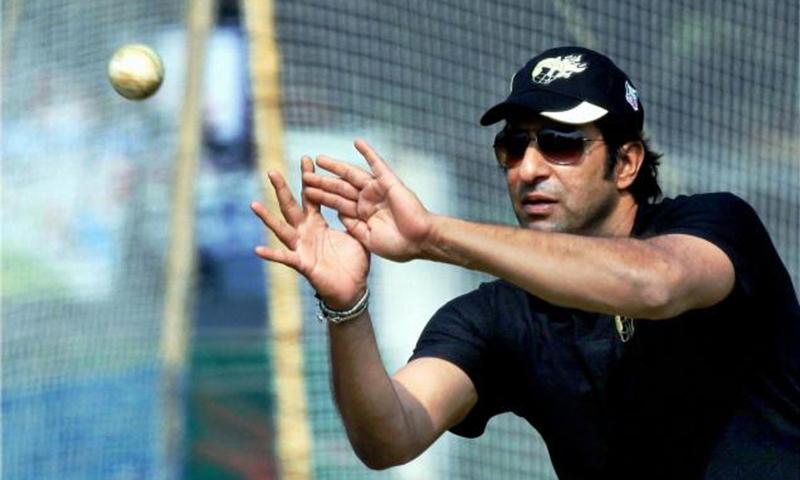 Former Pakistan captain Wasim Akram. — Photo by AP