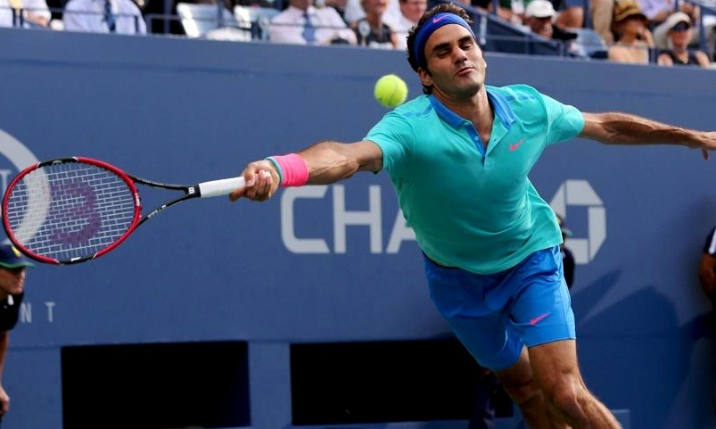 Federer never was able to solve the big serves and substantial wingspan of his 6-foot-6 opponent. -Photo by AP